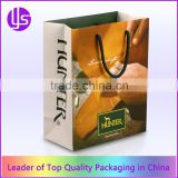 China Cheap Custom Luxury Fashion Handmade Color Advertising Promotional Branded Laminated Paper Shopping Bag with Logo Printed