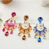 5 color Fashion Graceful Women Evening Jewellery Full Crystal Drop Earring jewelry dangle earring brand fashion bohemian