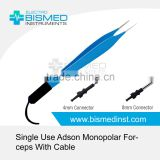 Single Use Adson Monopolar Forceps With Cable