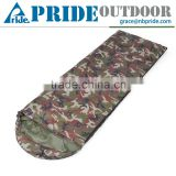 Outdoor Camping Adult Hooded Envelope Lightweight Waterproof Camouflage Army Sleeping Bag