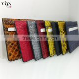 colorful leather card holder for man use money purse design genuine python leather cords calling visiting card holder