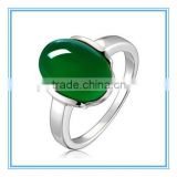 High Quality Emerald Jade Platinum Rings