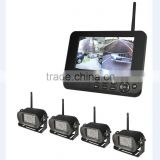 4CH Digital wireless camera & DVR system with 7''LCD monitor bus cctv camera
