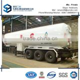 China 3 axles lpg gas tank trailer truck for sale