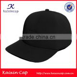 custom full closure flexfit fabric hat wholesale 3D embroidery flat brim hip hop flexfit cap