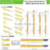 P048/PH048/P030/P035/PH035 0.68mm thimble 4 claw type Spring loaded Pogo Probe Testing Pins