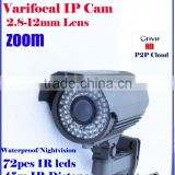 best digital 720P ip66 ir color cheap megapixel ip poe camera with 60M Long Night Vision