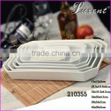 Hot sales Plain White Round Square Rectangular Oval Triangle Irregular Shaped Ceramic Porcelain Plates Dishes All Size
