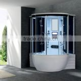 Steam shower room with tempered glass sliding door Acrylic bathtub portable shower G168