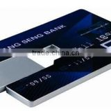 plastic credit card usb flash drive with logo
