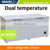 362L 2016 new model 110mm 90L 12V 24V dc solar refridgerator fridge freezer solar freezer