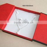 Red color cardboard paper necklace gift jewelry box, jewelry gift box,jewelry gift boxes like book style