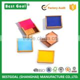 Small gift boxes for sale color sliding lid wooden gift boxes wholesale