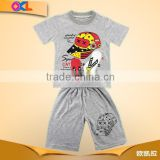 Made in ningbo factory super quality casual kids summer clothing sets for boys