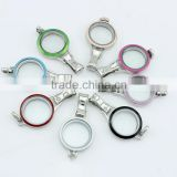 316L stainless steel mixcolor enamel lanyard screw floating charm glass locket