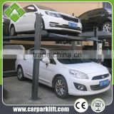 One Cylinder Hydraulic Lift Type and Four Post Design multi-level car parking lift system