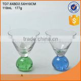 wholesale customed glass cup set for ornament