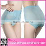 Lace up sexx ## Blue High Waisted Slimming underwear women body shapewear