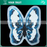5MM Blue White Black Butterfly Sequin Bead Applique Patches