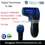 Cheapest Digital LED Non Contact gun Tachometer with Backlit LCD Display and 99999 RPM Range TL-900