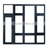 China Manufacturer Customized Power Coated printing Aluminum Window Heat Insulation Double glass Windows
