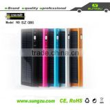 factory USB real 2200mah universal solar power charger with flashlight for tablet PC, cell phone,mp3,mp4, camera, etc