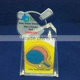 Custom table tennis/ Badminton award trophy for wholesale