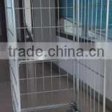 RH-RC005 830*710*2000mm three sides closed nesting roll container with shelf movalbe wire mesh steel container cart