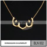 New designs 925 Sterling Silver Necklace Gold Matte jewelry