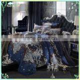 2015 Luxury arabian Jacquard bedding set shiny satin duvet cover set bridal bed sheet set for teenagers