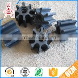 Self-extinguish small tolerance silicon rubber impellers