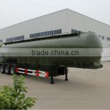 2015 50cbm Stainless steel fuel tanker trailer for sale, carbon steel oil tank semi trailer, aluminium alloy fuel tank trailer