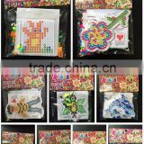 1Set IQ Hama Perler Beads Kids DIY P-together Great Fun Crafts Flower Puzzle