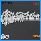 Beauty clothing accessories 1 pc queen dream crystal beaded rhinestone applique