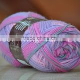 For knitting socks 46s/1/2/ 100% polyester yarn dyed or raw white or melange all can be Customized