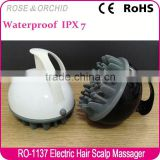 Factory wholesale electric scalp massaging shampoo brush for bath