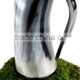 Drinking horn beer mug/tankard and glass real horn buffalo/ox latest design in india royal mug bulk manufacturer