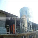 Flat and hopper bottom poultry feed silo