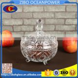 wholesale with lid glass canister/candy jar