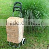 Wicker Shopping Trolley, Wicker Shopping Basket Trolley, Willow Shopping Basket Trolley, Wicker Shopping Bag on Wheels, Wicker S