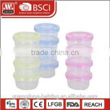 Colorful multi tiers plastic melamine baby food storage container lunch box