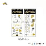 New Fashion Non-toxic Flash Metallic Gold Temporary Metallic Tattoo