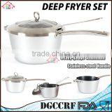 NBRSC Home Nonstick covered Deep Fryer Aluminum Fry Pot and Basket with stainless steel Handle