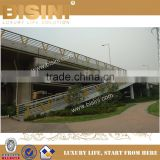 Dark Yellow Colour V Type Steel Structure Guardrail for Viaduct Bridge,Customized Decorative Guard Bar (BF08-Y10030)