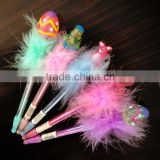 Wholesale craft plastic easter egg feather pen