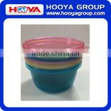best selling 3 pcs small size plastic round baby travel bowls with lids plastic candle bowls