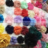 wholesale chiffon lace flower hair flowers for wedding decoration ,decorative flowers for dress