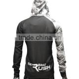 China manufacturer sublimation printing performance training hoodie with OEM brand name tagless print Side zipper pockets