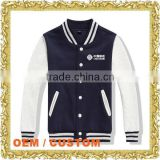 Custom embroidery logo letterman jacket baseball garment oem mens baseball varsity jacket