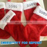 WD-1540 promotional santa stocking with custom imprint via embroidery